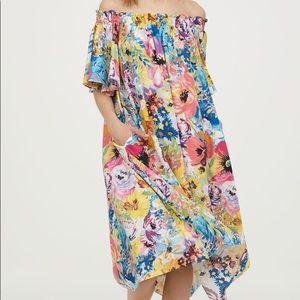H&M Off The Shoulder Floral Dress